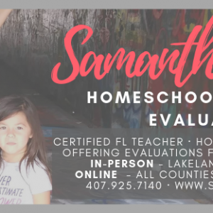 Samantha Eason - Homeschool Portfolio Evaluations